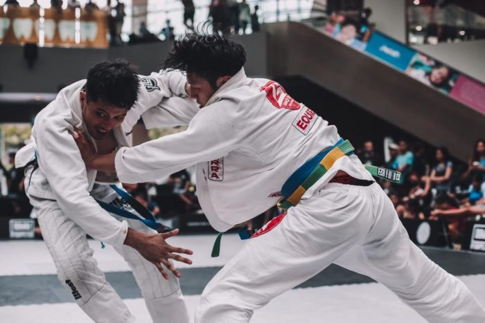 Dave Kim at the Dumau BJJ tournament in Singapore.
