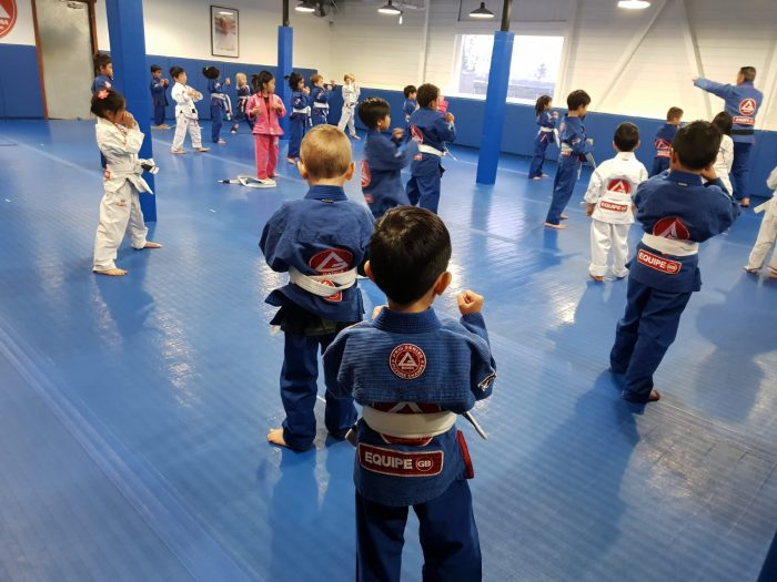 Four-year-old Ayden from GB Singapore picking up some self-defense skills at GBHQ