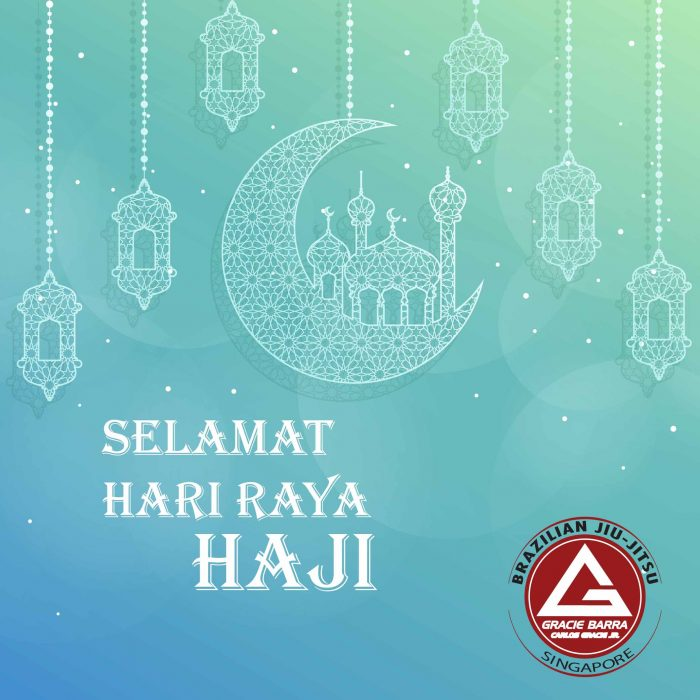 Gracie Barra Singapore Hari Raya Haji Training Schedule 2018